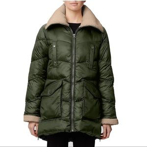 Rainforest Recycled Nylon Cire Quilted Coat NWT